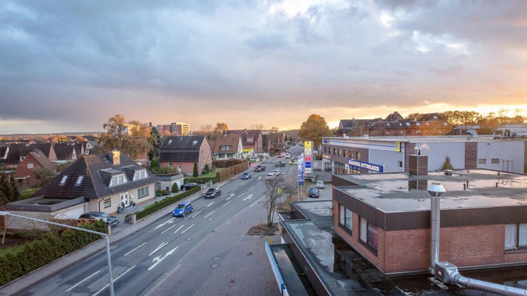 Ausblick aus dem Fenster, Unterkunft Gruppenunterkunft, Monteurzimmer in Meckelfeld